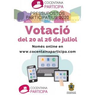 Votació del Pressupost Participatiu 2020 del 20 al 26 de juliol